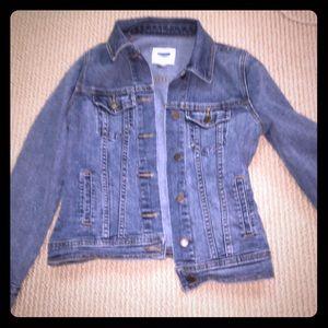 a blue jean jacket